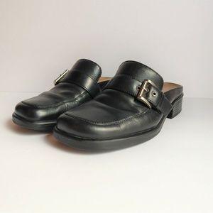Naturalizer Womens Sz 6 M Mules Shoes Slip-on Leat